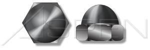 (1000pcs) 3/8-16 Acorn Cap Nuts Closed End Steel, Black Zinc
