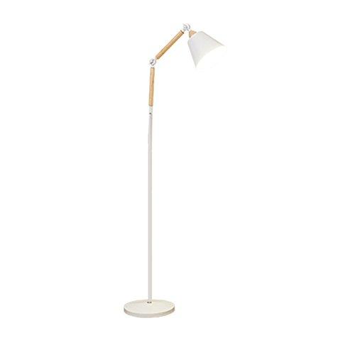 Elegant Lampe Sur Pied En Bois Massif Table Basse A Lecture