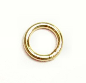 - 10 pcs 14k Gold Filled Round Closed Soldered Jump Rings 4mm 22ga 22 gauge Wire Connector/Findings/Yellow Gold