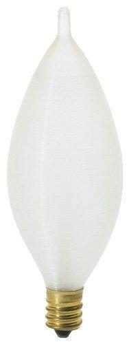 (Satco S2703 - 25 watt C11 Incandescent Bulb, Spun White, Candelabra Base ;#by:lightingsupplygroup)
