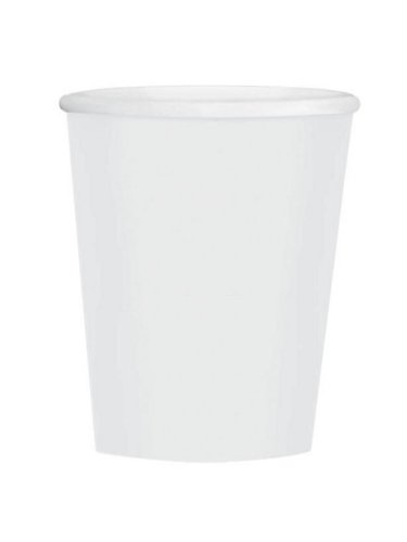 Disposable Plain Coffee Cups Party Tableware, Frosty White, Paper, 12 Ounces, Pack of 40 (Plain Child Cup)