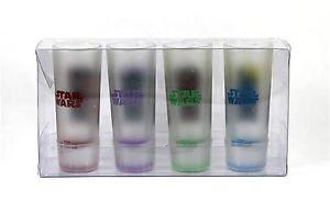 NEW Disney Parks Star Wars Shot Glasses Set of 4 Mickey Goofy Stitch Chip & Dale