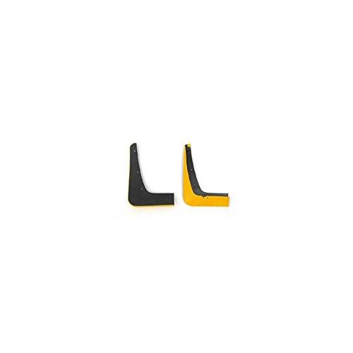 - Eckler's Premier Quality Products 25163528 Corvette Splash Guards Body Contoured Front Velocity Yellow Altec
