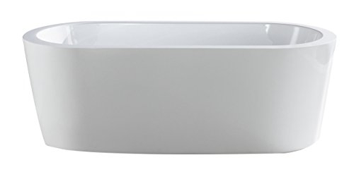 Eviva EVTB6201-59WH Ramo Free Standing 60'' Acrylic Bathtub, White by Eviva