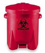 (Eagle 943BIO Red Biohazard Waste Can, 6 gal)