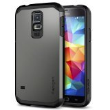 Spigen Tough Armor Designed for Samsung Galaxy S5 Case (2014) - Gunmetal