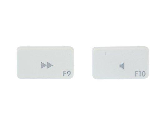 Tastatur Ohrstecker Miniblings Stecker Ohrringe Keyboard weiß F9 F10 Ton leise
