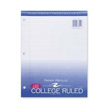 Roaring Spring Paper Products ROA83933 Filler Paper- College Ruled- 11in.x8-.50in.- 3HP- 150 Sh-PK- White by Roaring Spring