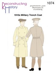 [1910's Military Trench Coat] (1910 Costumes)
