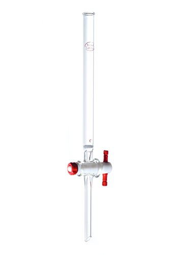 Standard Taper 24//40 Wilmad-LabGlass LG-4569T-154 Chromatography Column with Straight Stopcock//PTFE Plug x 600mm Length 44mm I.D Fritted Disc