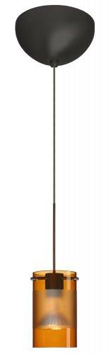 Besa Lighting 1XC-6524EG-BR Scope Pendant with Armagnac/Frost Glass, Bronze Finish