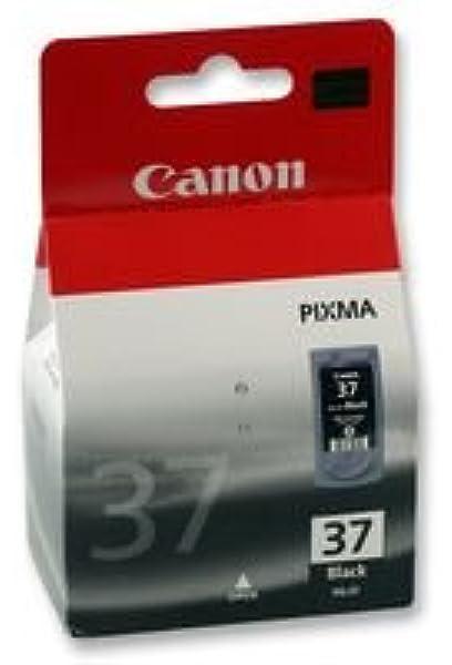 Canon PG-37 Cartucho de Tinta Original Negro para Impresora de Inyeccion de Tinta Pixma MP140-MP190-MP210-MP220-MP470-iP1800-iP1900-iP2500-iP2600: Amazon.es: Oficina y papelería