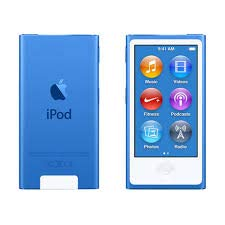 Music Player iPod Nano 7th Generation 16gb Blue Packaged in Plain White Box (Ipod Nano 5th Blue)
