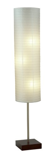 Adesso 4090-15 Modern Gyoza Table and Floor Lamp Set, White, 2-Pack