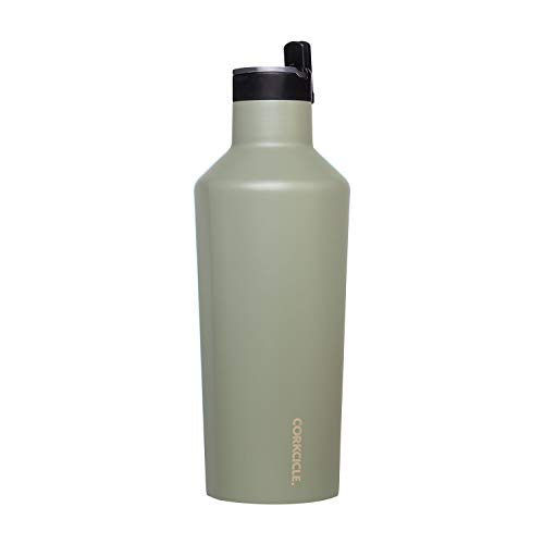 Corkcicle Canteen Sport Collection - Water Bottle & Thermos - Triple Insulated Shatterproof Stainless Steel, 40oz, Tactical Grey