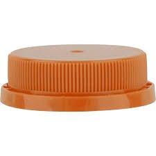 400 38Mm Ratchet Style Unlined Tamper Evident Plastic Dairy Juice Screw Caps For 8  12  16  32   64Oz Hdpe Bottles   Pack Of 400  Orange Cap
