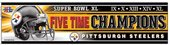 (Wincraft Pittsburgh Steelers 5 Times Super Bowl Champions Bumper Sticker )