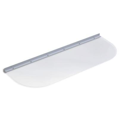 41 in. x 14 in. Elongated Clear Polycarbonate Basement Window Well - Large Window Covers Basement Well