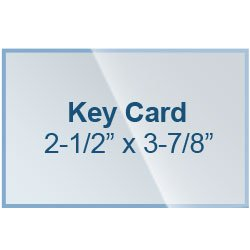 Key Card Laminating Pouches 2-1/2 x 3-7/8 Laminator Sleeves 5 Mil Qty 100