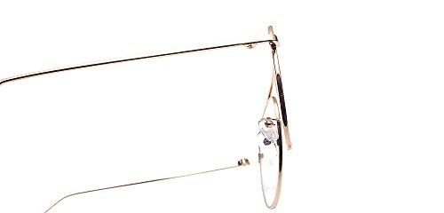 metal marco piloto claras de moda dorado de aviador ALWAYSUV gafas lente gafas TvAqxg