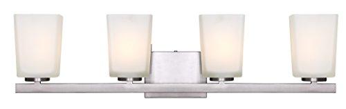 4 light vanity lantern style vanity canarm ivl472a04bn hartley light vanity with flat opal glass brushed nickel amazoncom