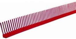 Closoir peigne L 1m protection couverture bwk-1 m x 65 mm-Rouge-brique