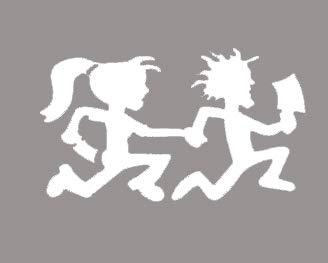 Juggalo Couple ICP Insane Clown Posse Decal Vinyl Sticker|Cars Trucks Vans Walls Laptop| WHITE |5.5 x 3.25 in|CCI715 -