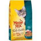 Meow Dry Cat Food Tender Centers Tuna & White Fish 3LB (Pack of 12)