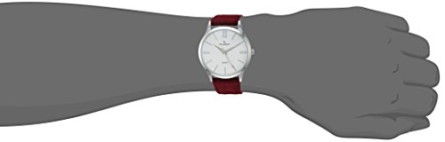 Peugeot Women Slim Case Casual Wrist Watch w Matching Canvas Wool Strap