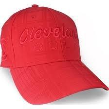 (Cleveland Golf CG Tonal Plaid Cap (Red, Small/Medium))