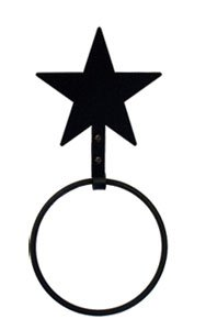 Village Wrought Iron 11.5 Inch Star Towel Ring (Star Village)
