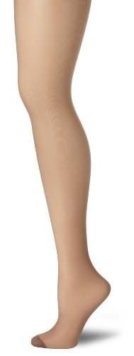 (Hanes Women's Control Top Reinforced Toe Silk Reflections Panty Hose, Town Taupe,)