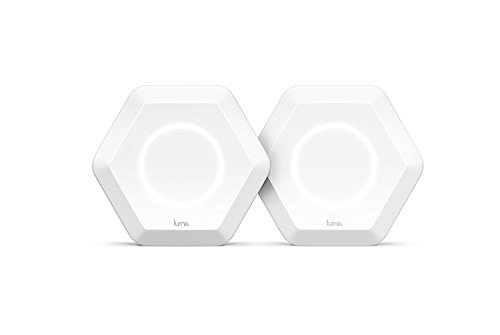 Luma Whole Home WiFi -   Replaces WiFi Extenders and Routers, Works with Alexa, Free Virus Blocking, Free Parental Controls, Gigabit Speed (White)- Pack of 2 (Wireless Router Ratings)