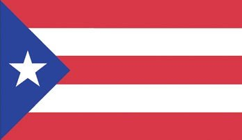 Valley Forge Flag Made in America 3' x 5' Nylon Puerto Rico