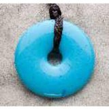 Teething Bling Donut Teething Necklace Pendant by Smart Mom (Turquoise)