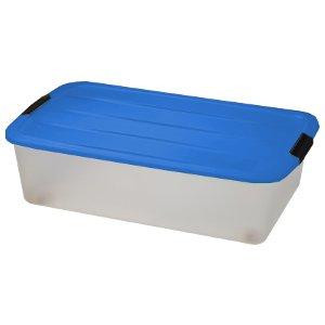 Caja para debajo de la cama, caja de almacenaje, caja de almacenamiento, caja