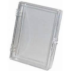 ONE SINGLE CLEAR 15 count hinged box for all standard Baseball; Football; Hockey; Basketball; Racing and Non sports Cards from USA