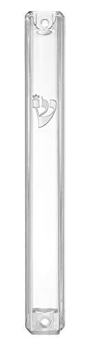 Lucite Waterproof Mezuzah Case Silver Shin (3, ()