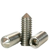 "1/4""-20 x 1/2"" SOCKET SET SCREWS CONE POINT COARSE STAIN A2 (18-8),Head: None,Drive: Internal Hex,stainless_steel_18-8,Point Style: Cone,Thread: UNC (Inch) (Quantity: 100)"