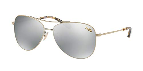 Coach Womens Sunglasses Gold/Silver Metal - Polarized - 58mm