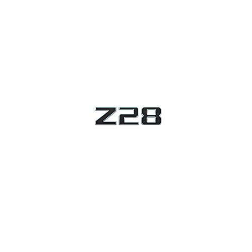 3d Emblem Z28 for Chevrolet Camaro Chrome with Black Replacement (Emblem Z28)