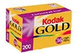 Kodak Gold 200 Speed 36 Exposure 35mm Film GB135-36