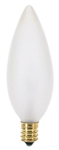 Satco S3286 120V Candelabra Base 40-Watt B9.5 Light Bulb, Frosted by Satco