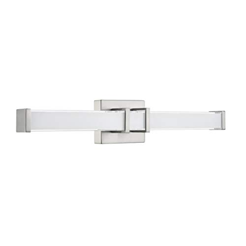 Baracino 24 inch LED Bathroom Vanity Lights | Brushed Nickel Bathroom Light LL-WL918-1BN-24