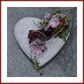Grabschmuck Herz mit Pflanzzone Grabdekoration Pflanzherz Grabherz zum bepflanzen Trauerschmuck Trauerdeko