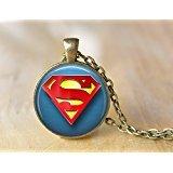 Superman Pendant Necklace, Superheroes Necklace Jewelry Men Women Unisex Necklace