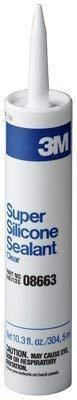 3M Clear Super Silicone Seal, 08663, 1/10 Gallon Cartridge