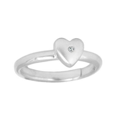 Sterling Silver Diamond Heart Adjustable product image