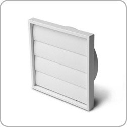 Manrose Gravity Flap Wall Grille, 150mm Diameter, White Plastic, Kitchen  Ventilation, Extractor