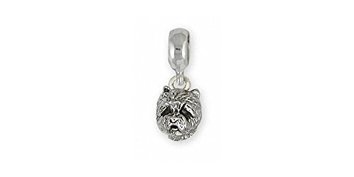 (Westie Charm Slide Jewelry Sterling Silver Handmade West Highland White Terrier Charm Slide WS5H-PNS)